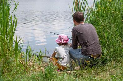 Fisketur med ungerne i pinseferien