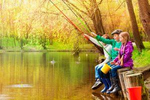 Børn der fisker - Lystfiskeriets Dag 2018